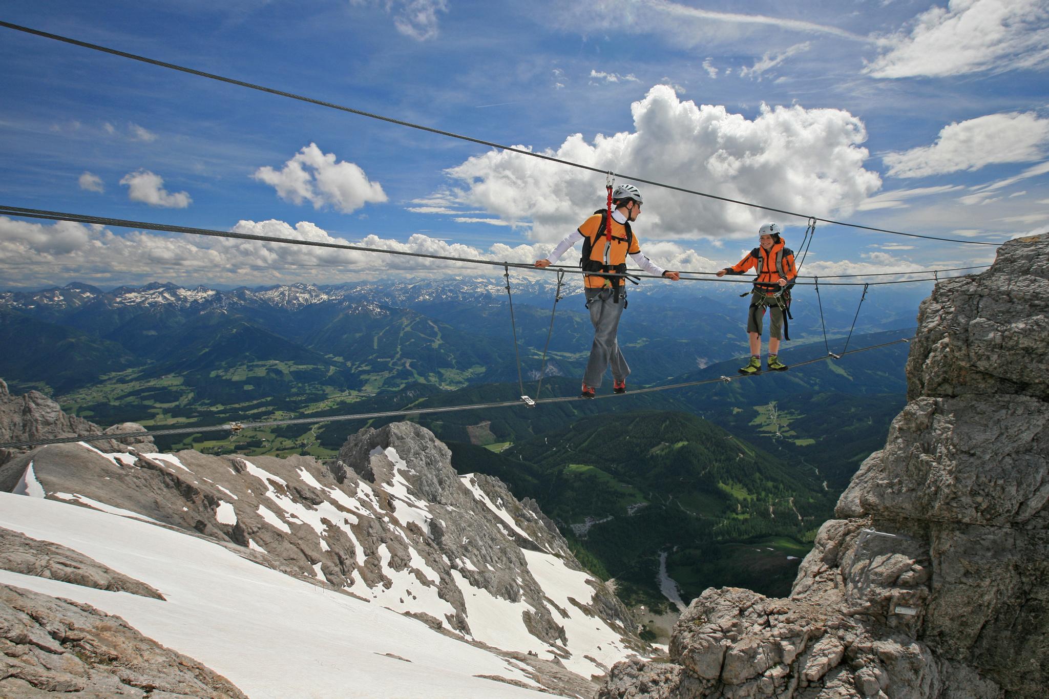 Klettersteig Johann Dachstein : Klettern klettersteige u hinkerhof
